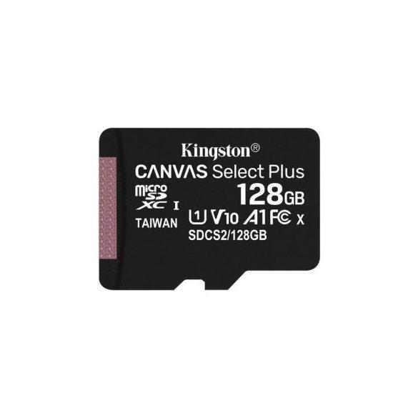 128 GB Kingston MicroSDXC kártya class 10 + SD adapter