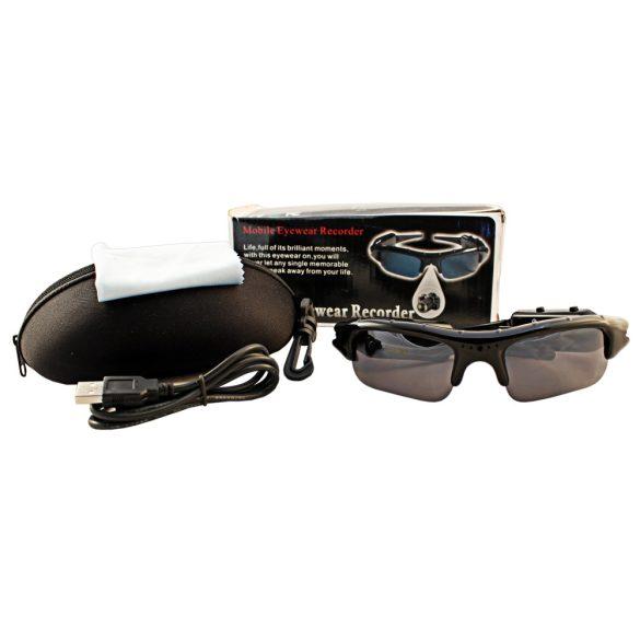 Napszemüveg rejtett kamera 1280*960 pixel, MP3 lejátszós
