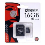16 GB Kingston MicroSDHC kártya class 10 + SD adapter