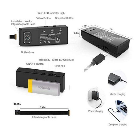 Cserélhető lencsés Wifi kamera